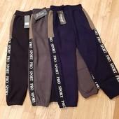 Стильнi зимнi спортивнi штани на меху на зрiст 122 -152 фiрми Малиш
