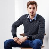 ⚙Елегантний светр-пуловер з органічної бавовни, Tchibo (Німеччина), рр. наші: 48-50 (M евро)