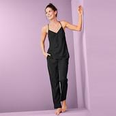 ☘ Жіноча двухкомпонентная ткана піжама з V-подібним вирізом Tchibo, р.наш: 46-48 (40 євро)