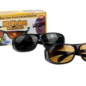 Антибликовые очки для водителей HD Vision Wrap Arounds 2 шт поляризованные