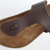 Шлепанцы сланцы Birkenstock сандалии мужские кожаные. Германия. Оригинал. 45-46 р.