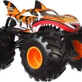 Велика металева машинка Хот вілс Hot wheels monster trucks Tiger Shark. Оригінал