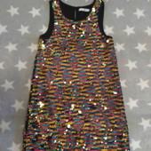 Шик!Шикарное платье, полностью в паетках на 6-7лет, в прекрасном сост