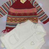 Кофта свитер жилетка 6-9мес