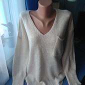 Вязаный тоненький свитерок, оверсайз, р.S/M