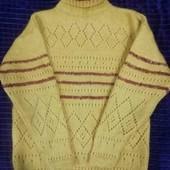 Очень тёплый мохеровый свитер, р. 46-48
