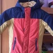 Куртка,еврозима, внутри флис, размер 5 лет 110 см, Kids. состояние отличное