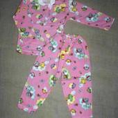 нова тепла 34 на 5-6 лет новая теплая пижама хлопок 110-115 рост