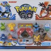 Набор Pokemon Go Покемоны фигурки 8 шт + шар с минифигуркой внутри Набор случайный, много лотов.