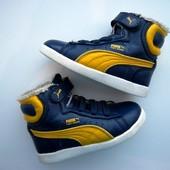 Бомбезные, яркие ботинки, хай топы, кроссовки Puma. Оригинал. Стелька 15,5 см. Внутри мех.