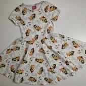 Хлопковое платье Белль на 8-9 лет в идеале