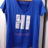 Фирменная футболочка, HI (означает привет!), 100 % коттон. р-р XL.состояние отличное!