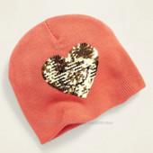 ♥-двойная шапка с паетками Old Navy р. л-!♥