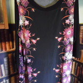 Красивое платье с цветами, трикотаж