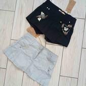 новые юбка и юбка-шорты на 9-10лет