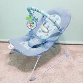 Детский шезлонг, кресло-качалка, вибро-режим от 0 до 12 кг