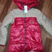 Утеплённые деми курточки для девочек, р.104-128