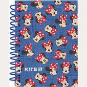 Kite.Блокнот карт. обложка с выборочным глянцевым покрытием спираль., 80 листов ., А6 Минни Маус