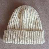 В'язана шапка для дівчинки 6-8років,демисезон