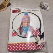 Польша!!! Очень красивый набор для девочки! Демисезонная шапка, хомут и перчатки! 3-6 лет!