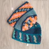 Фирменная новая красивая шапочка- в лоте одна синего цвета р.52-56