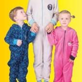 ❤️Плюшевый мягусенький комбинезон пижамка серенький с бирюзой Studio100 Германия 122\128