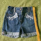 Шорты джинсовые George на девочку, 1,5-2 года