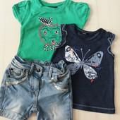 Фирменный комплект футболки George и шорты Bakkaboe на 1- 1,5 года.