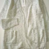 Шерстяной свитер с кардиганом