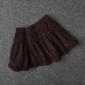 Вельветовая юбка с рюшами Miniclub Англия в идеальном состоянии.