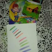 Яркие карандаши, лот 2 пачки