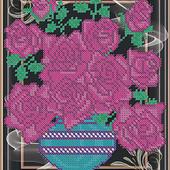 """Схема для вишивки бісером """"Букет роз"""""""