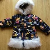 Куртка на девочку б/у, размер 92 маломерит!!!