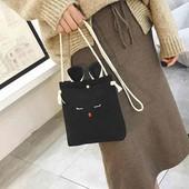 Милая холщовая сумочка