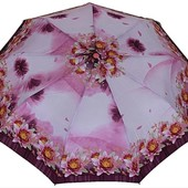 Женский Зонт полный автомат (анти ветер) 3 сложения 9 спиц с пружиной 2 цвета