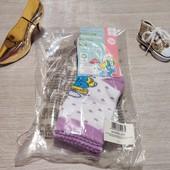 Германия!!! Носки для девочки! 3 пары в упаковке! 23-26 размер!