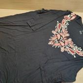 Германия!!! Симпатичная футболка из вискозы, с удлиненным рукавом! 52/54 евро!