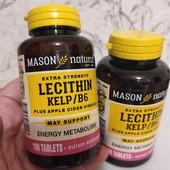 Очищение организма Лецитин с водорослями, B6 и яблочным уксусом, 100 шт Америка