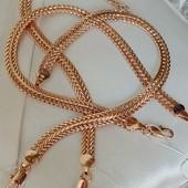 супер! шикарный широкий браслет, оригинальное плетение, ширина 6.5 мм, позолота 585 пробы