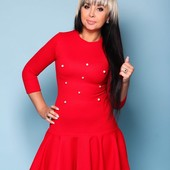 Хорошее платье с оригинальной юбочкой, размер С, М, Л (42-46)
