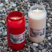 Ароматическая свеча с ароматом ванили. Красная, высота 10 см, Германия