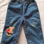 Джинсовые утепленные штаны.