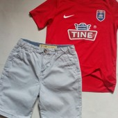 Яркая футболочка dri fit + коттоновые шорты √√ одним стильным лотом ,без дефектов √√ 10/12 лет.