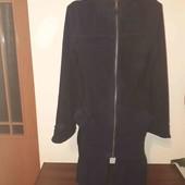 Теплий флісовий халат з капішоном без нюансів,  розмір L/ XL.