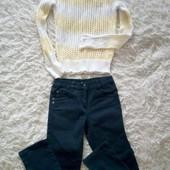"""♥️ Лот джинсы Blue seven + свитерок """"паутинка"""" на дев. 7 лет, рост 122 см ♥️"""