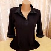 Стильная насыщенно черная рубашка от Next р. L,XL