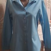 Голубая рубашка в мелкую клетку disley,р.12