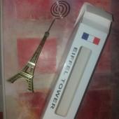 ♡сувенир-подставка для фото,записок.Ейфелева башня.метал.