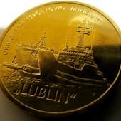 #7 монета Польша, юбилейная, 2 злотых, 2013, польские суда - военно-транспортный корабль «Люблин»