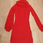 Тёплое алое платье